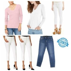 Lot of 6! Designer Jean/Capri/Sweater Mix, 14/L